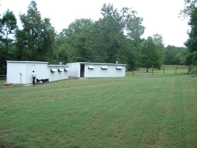 Kennel buildings and exercise yard at Old Salem Kennel, Inc.